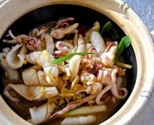 Calamari Kanton Style mit Auberginen