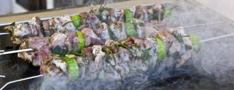 Souvlaki & Hot Potato Wedges