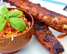 Chakalaka-Krautsalat  mit Spicy Spareribs