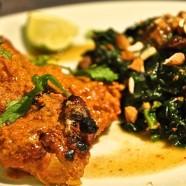 Tandoori Chicken mit orientalischem Spinat
