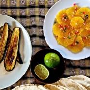 Tamarinden Beef Curry, Orangensalat und Aubergine