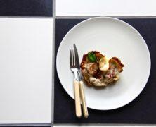 Pasta Nest mit Artischocken & Garnelen